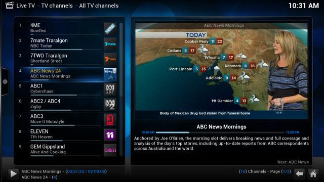 Kodi aggiunge il supporto al DVB e al PVR su Android - AndroidPC | TV